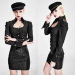 PUNK RAVE Uniformbluse II Schwarz 001
