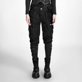 Detail image to PUNK RAVE Punks Never Die Pants Black