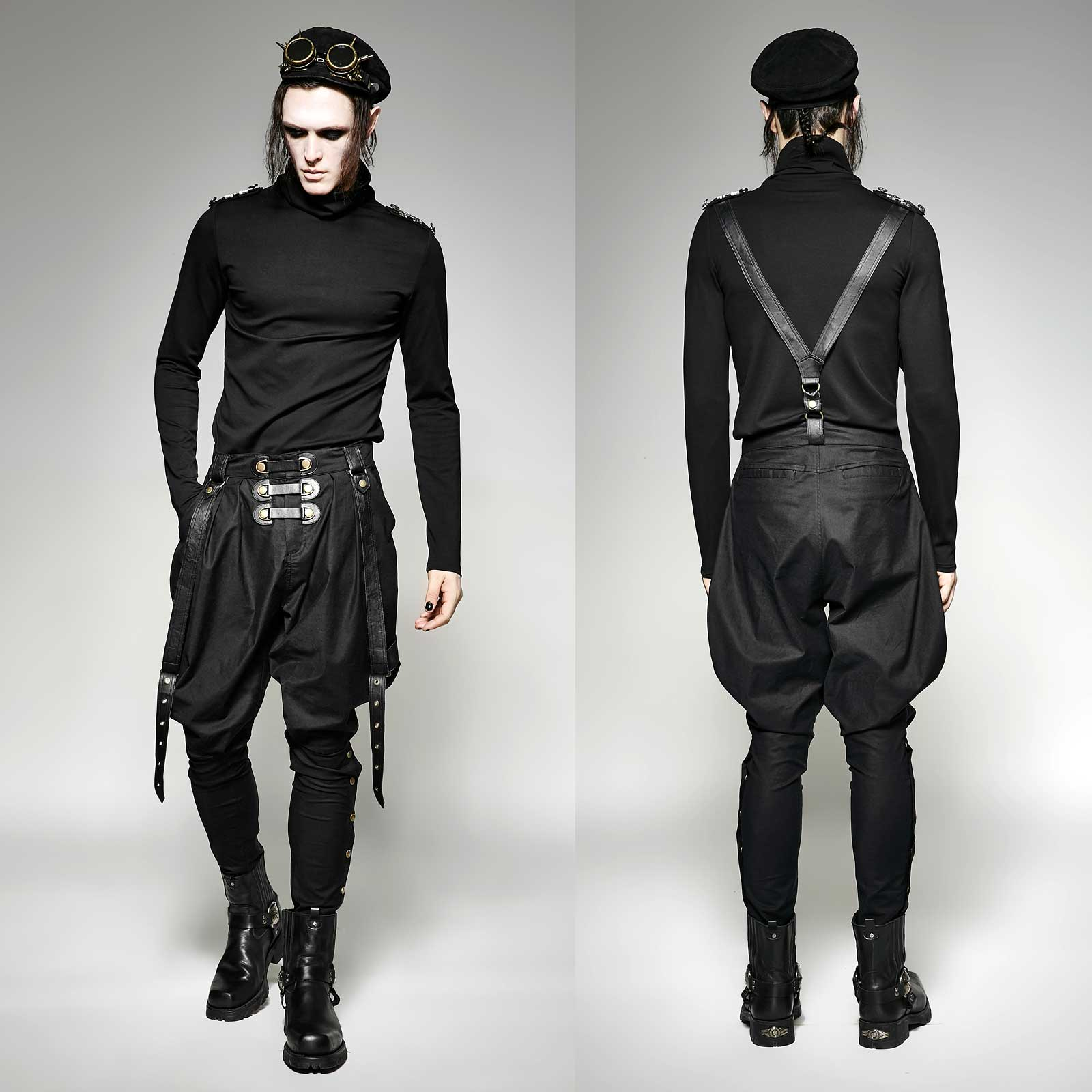 punk rave steampunk reiterhose gothic stiefel hose uniform pants goth breeches ebay. Black Bedroom Furniture Sets. Home Design Ideas