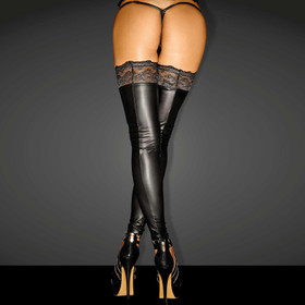 Detail image to NOIR HANDMADE Superstar Wetlook Stockings
