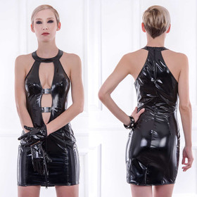PATRICE CATANZARO Oka Vinyl Dress