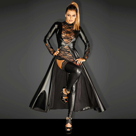 NOIR HANDMADE Divalicious Wetlook Coat