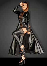 Detail image to NOIR HANDMADE Divalicious Wetlook Coat