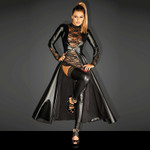 NOIR HANDMADE Divalicious Wetlook Coat 001