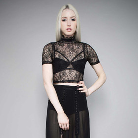 24HRS WIDOW Midnight Hour Lace Top