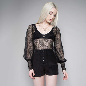 24HRS WIDOW Midnight Hour Lace Blouse