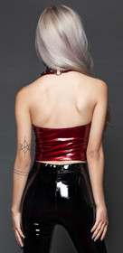 Detail image to 24HRS Classic Vinyl Halter Top Red