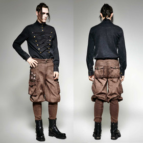 PUNK RAVE Steampunk Breeches Brown