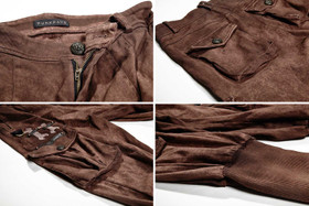 Detail image to PUNK RAVE Steampunk Breeches Brown