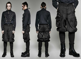 Detail image to PUNK RAVE Steampunk Breeches Black