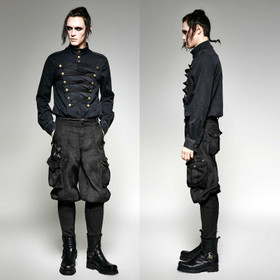 PUNK RAVE Steampunk Breeches Black