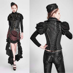 PUNK RAVE Steampunk Corset Top Black 001