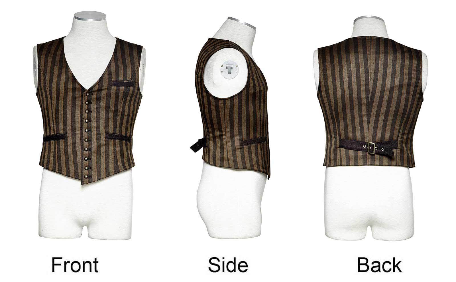 f8dbe5b4c44b2 ... Detail image to PUNK RAVE Gentleman Waistcoat Striped ...