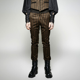 Detail image to PUNK RAVE Gentleman Pants Striped