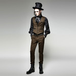 PUNK RAVE Gentleman Hose Gestreift 001