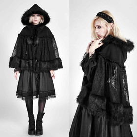 PUNK RAVE PYON Lolita Hooded Cape