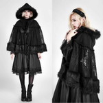 PUNK RAVE PYON Lolita Hooded Cape 001