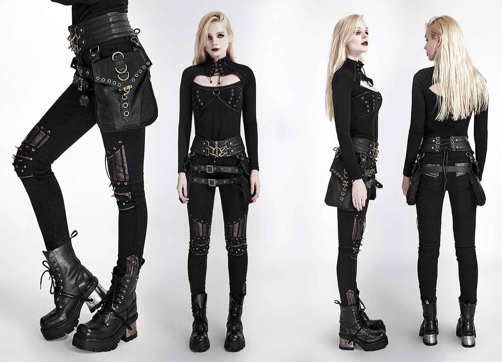 punk rave industrial punk pants. Black Bedroom Furniture Sets. Home Design Ideas