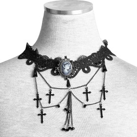 Detail image to PUNK RAVE Gothic Cross Choker