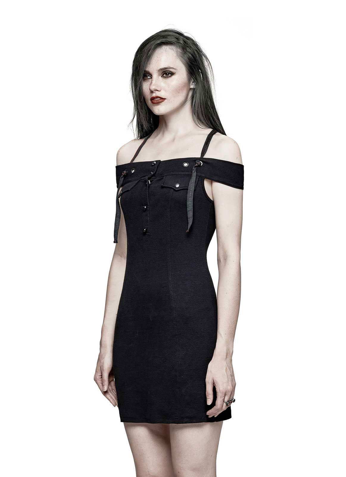 PUNK RAVE Off The Shoulder Gothic Kleid