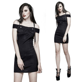 PUNK RAVE Off The Shoulder Gothic Dress
