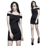 PUNK RAVE Off The Shoulder Gothic Dress 001
