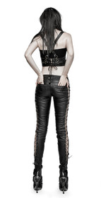 Detail image to PUNK RAVE Double Trouble Lace Up Pants
