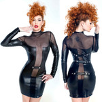 PATRICE CATANZARO Catalina Wetlook Dress 001