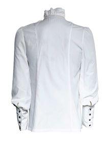 Detailbild zu PUNK RAVE Gothic Rüschenhemd Weiß