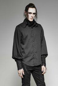 Detailbild zu PUNK RAVE Gothic Hemd Schwarz Mit Schal