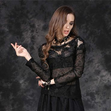 DARK IN LOVE Gothic Rose Spitzen Top