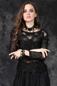 Detailbild zu DARK IN LOVE Gothic Rose Spitzen Top