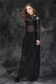 Detail image to DARK IN LOVE Gothic Rose Lace Top