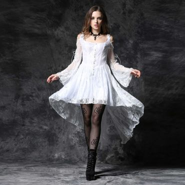 DARK IN LOVE White Lady Dovetail Kleid