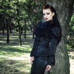 DARK IN LOVE Satin Noir Victorian Blouse  001