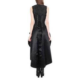 Detail image to VINTAGE GOTH Corset Dress Black + Bolero Jacket