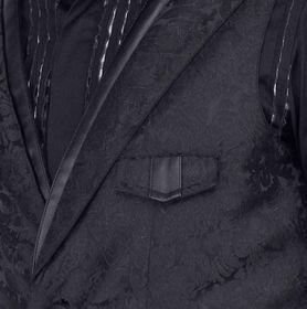 Detailbild zu VINTAGE GOTH Schwarze Brokatweste