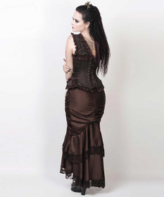 Detail image to VINTAGE GOTH Steampunk Skirt Brown
