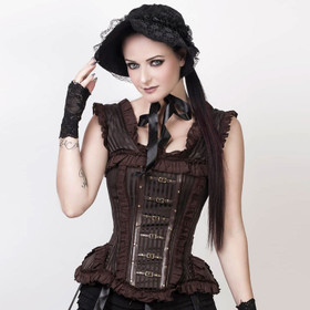VINTAGE GOTH Steampunk Corset Brown