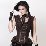 VINTAGE GOTH Steampunk Corset Brown 001