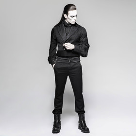 PUNK RAVE Black Steam Pants