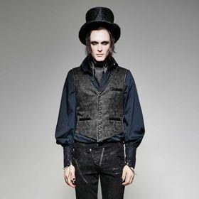 PUNK RAVE Gentleman Waistcoat Grey