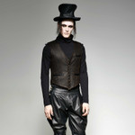 PUNK RAVE Gentleman Weste Bronze 001