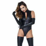 PATRICE CATANZARO Manon Wetlook Jumpsuit 001