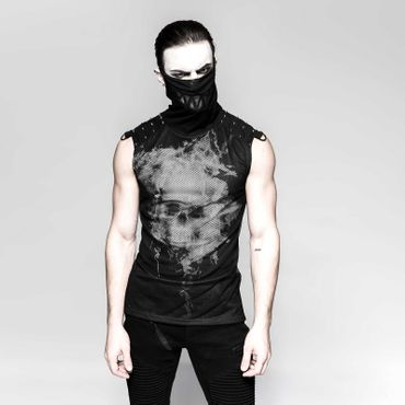 PUNK RAVE Ghost Tank Top Black
