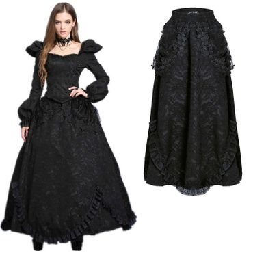 DARK IN LOVE Long Gothic Skirt