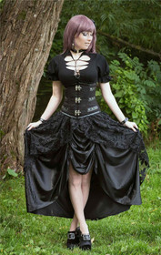 Detail image to DARK IN LOVE Victorian Skirt