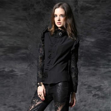DARK IN LOVE Black Sunday Bluse