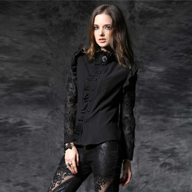 Detail image to DARK IN LOVE Black Sunday Blouse Shirt