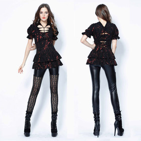 DARK IN LOVE Gothic Grid Leggings